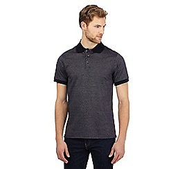 Maine New England - Navy textured tailored polo shirt