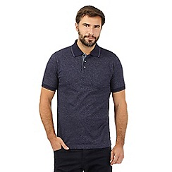 Maine New England - Navy broken striped print polo shirts