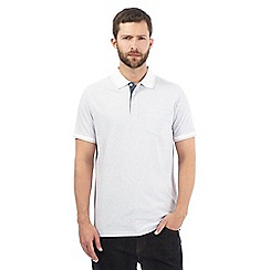 Maine New England - White striped polo shirt