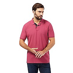 Maine New England - Rose textured polo shirt