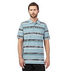 Maine New England - Green striped print polo shirt