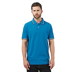 Maine New England - Big and tall dark turquoise tipped polo shirt