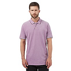 Maine New England - Big and tall purple textured polo shirt
