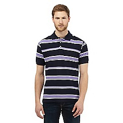 Maine New England - Big and tall purple striped print polo shirt