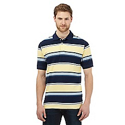 Maine New England - Big and tall yellow stripe polo shirt