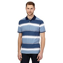 Maine New England - Big and tall blue ombre striped polo shirt