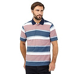 Maine New England - Big and tall multi-coloured ombre stripe print polo shirt