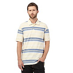 Maine New England - Big and tall yellow striped print polo shirt