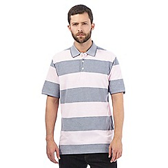 Maine New England - Big and tall pink striped polo shirt