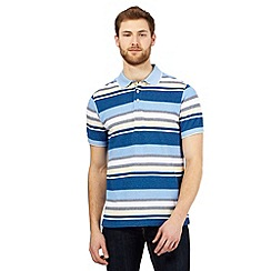 Maine New England - Blue striped print tailored fit polo shirt