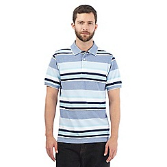 Maine New England - Light blue piqued polo shirt