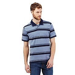 Maine New England - Blue large stripe polo top