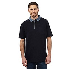 Maine New England - Big and tall navy chambray polo shirt