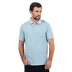 Maine New England - Green birdseye textured polo shirt