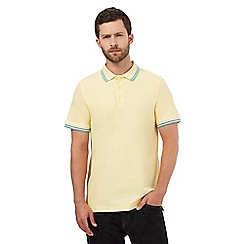 Maine New England - Big and tall yellow tipped tailored fit polo shirt