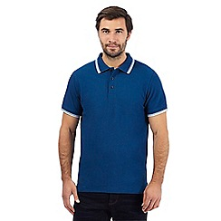 Maine New England - Big and tall dark blue tipped trims polo shirt