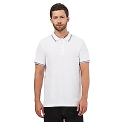 Maine New England - White tipped trims tailored fit polo shirt