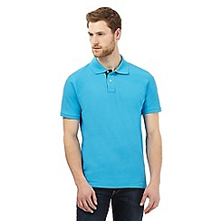 Maine New England - Big and tall blue contrast placket polo shirt