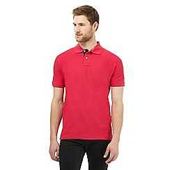 Maine New England - Big and tall red contrast placket polo shirt