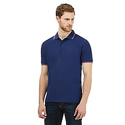 Maine New England - Big and tall navy tipped polo shirt