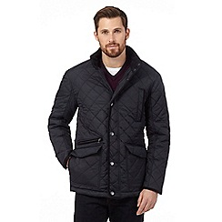 Maine New England - Big and tall navy fleece quilted jacket
