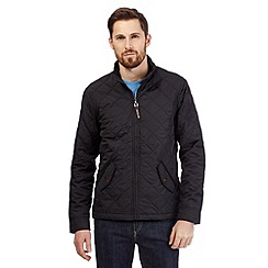 Maine New England - Big and tall black quilted harrington jacket