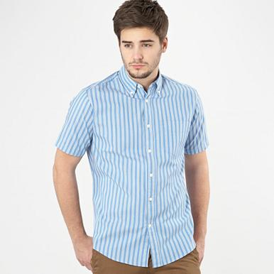 Big and tall blue oxford striped shirt
