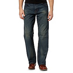 Maine New England - Big and tall dark blue straight leg jeans