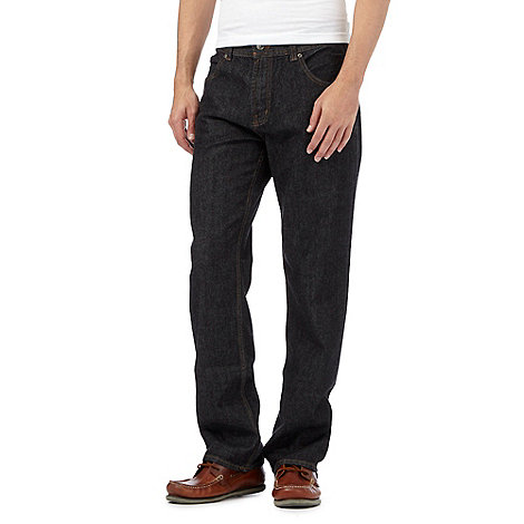 Maine New England - Big and tall black regular fit jeans