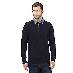 Maine New England - Big and tall navy rugby jumper