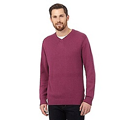Maine New England - Big and tall pink v neck jumper
