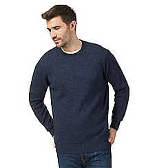 Maine New England - Big and tall navy twist crew neck jumper