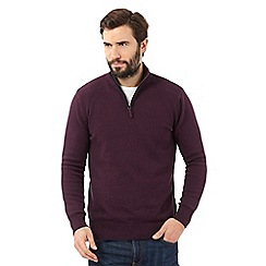 Maine New England - Dark red high neck sweater