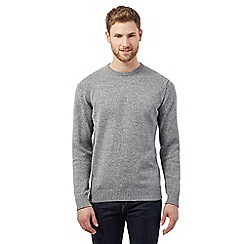 Maine New England - Big and tall grey twist crew neck jumper