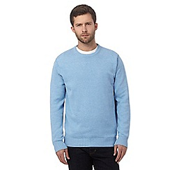 Maine New England - Big and tall light blue crew neck jumper