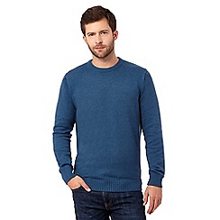 Maine New England - Big and tall turquoise crew neck marl jumper