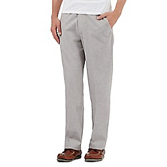 Maine New England - Big and tall grey linen blend tailored fit trousers