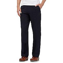 Maine New England - Navy linen blend trousers