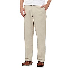 Maine New England - Big and tall beige linen blend trousers