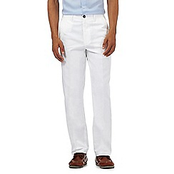 Maine New England - Big and tall white textured trousers