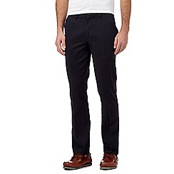 Maine New England - Big and tall navy slim fit chinos