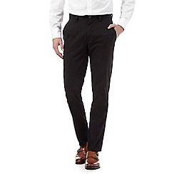 Maine New England - Big and tall black slim fit chinos