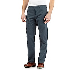 Maine New England - Big and tall dark turquoise tailored chinos