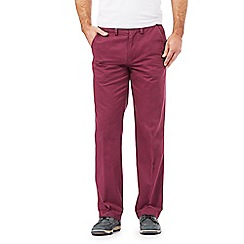 Maine New England - Big and tall dark red tailored chinos