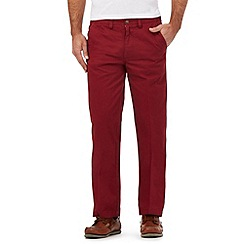 Maine New England - Big and tall red tailored fit chinos