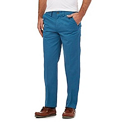 Maine New England - Big and tall blue tailored fit chinos