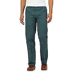 Maine New England - Big and tall dark green tailored fit chinos