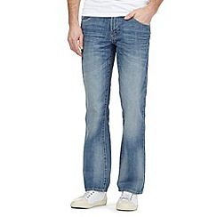 Maine New England - Big and tall blue mid wash bootcut jeans