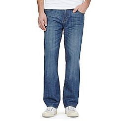 Maine New England - Blue mid wash straight fit jeans