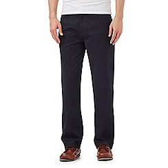 Maine New England - Big and tall navy straight fit trousers